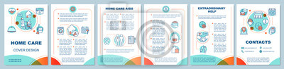 Fototapeta Home health care brochure template layout