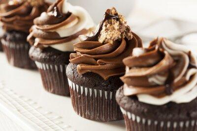 Fototapeta Homemade Chocolate cupcake z czekolady lukier