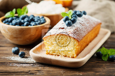 Fototapeta Homemade plum cake