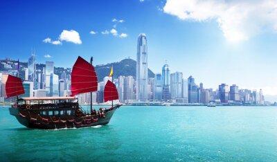 Fototapeta Hong Kong harbor