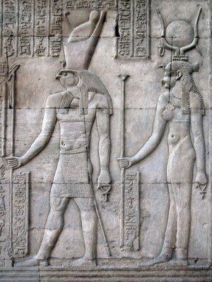 Fototapeta Horus i Hathor, świątyni Kom Ombo, Egipt