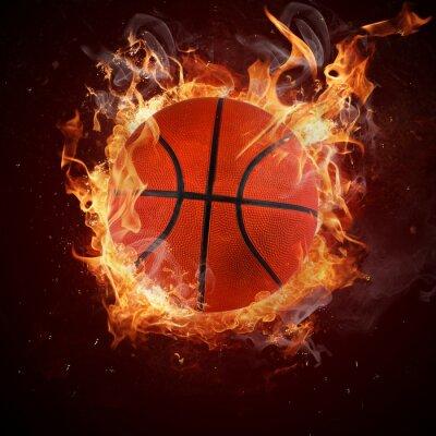 Fototapeta Hot koszykówki w płomienia pożary