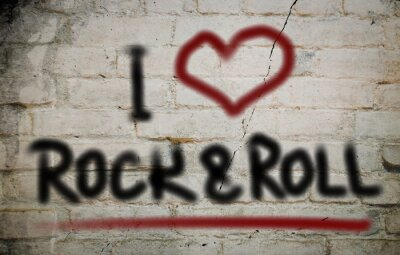 Fototapeta I love rock and roll Koncepcja