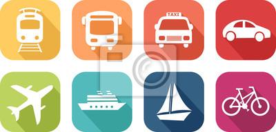 Fototapeta Icône de véhicules de transport
