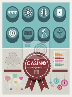 Icons Casino & elementy infografiki