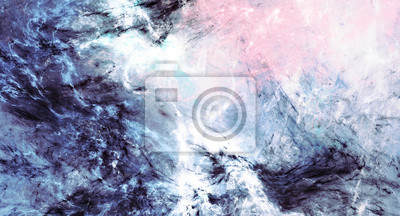 Icy waves. Blue artistic splashes. Abstract cold painting pattern. Soft texture for creative graphic design. Futuristic background for poster, cover booklet, banner. Fractal art