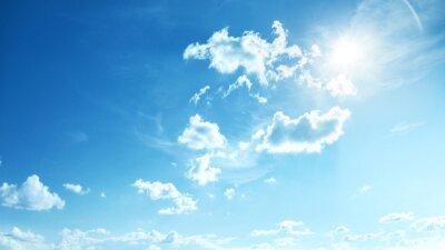 Fototapeta Idealne niebieskie, słoneczne niebo