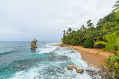 Fototapeta Idylliczna plaża Manzanillo Kostaryka
