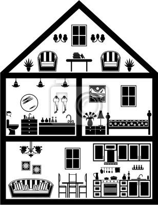 Ikona domu z planowaniem