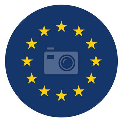 Fototapeta ikona koła Europy