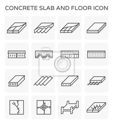Fototapeta ikona płyty betonowej
