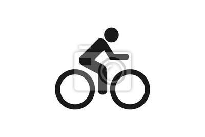 Fototapeta Ikona rower na białym tle