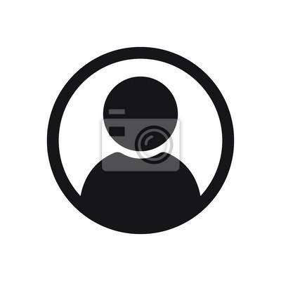 Fototapeta Ikona użytkownika w stylu płaski, ikona osoby, ikona użytkownika na stronie internetowej, użytkownik ikona ilustracja wektorowa