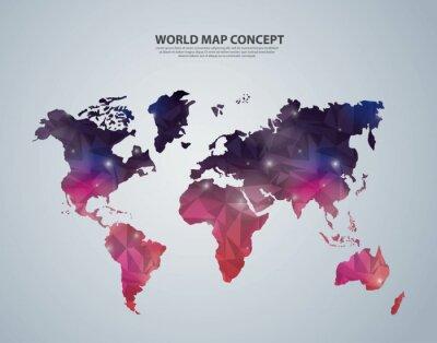 Fototapeta Ikona ziemi. Światowy oraz Mapa projektu. grafika wektorowa