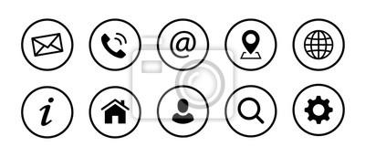 Fototapeta Ikony kontaktu internetowego