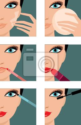 Ikony makijażu. wektor