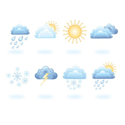 Fototapeta ikony pogody