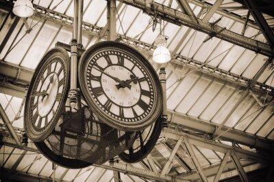 Fototapeta ikony Stary zegar Waterloo Station, Londyn