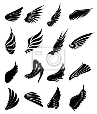 Fototapeta Ikony ustaw Wings