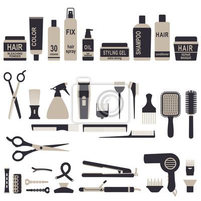 Ikony zestaw 1 do układania włosów