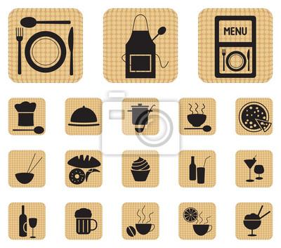 Ikony żywności i napojów Restauracja ustawić