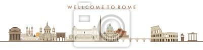 Fototapeta Illustration of an city background, rome