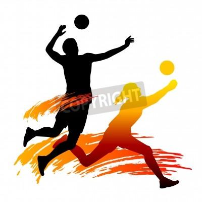 Fototapeta Illustration of volleyball sport
