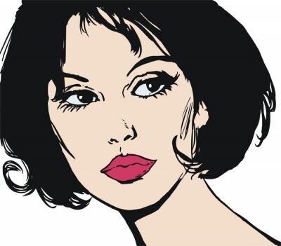 Fototapeta ilustracion con el Rostro de una Hermosa mujer