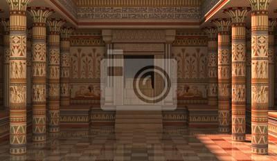 Fototapeta Ilustracja 3D Pharaohs Palace