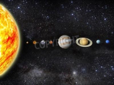 Fototapeta Ilustracja do naszego układu słonecznego - renderowania 3D mapy z http planetpixelemporium com