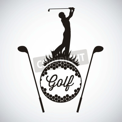 Fototapeta Ilustracja ikony golf, ilustracje sportów i gier, ilustracji wektorowych