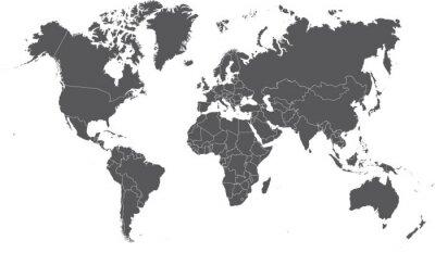 Fototapeta Ilustracja Kolorowe mapy świata