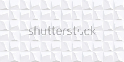 Fototapeta Ilustracja Podzielić biały 3d geometryczny tło z cieniem. Struktura architektoniczna prostokątów. trójwymiarowa kompozycja geometryczna trójwymiarowych wielokątów. Panel 3D. tło.