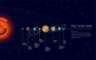 Fototapeta Ilustracja układ słoneczny