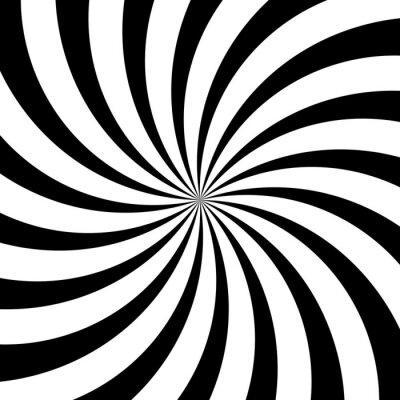 Fototapeta Ilustracja wektora abstrakcyjna czarnym i białym tle