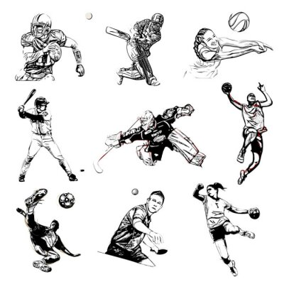 Fototapeta Ilustracja wektora sportu