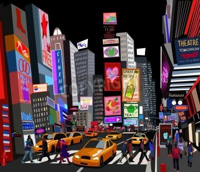 Fototapeta Ilustracja z ulicy w Nowym Jorku