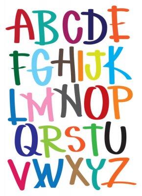 Fototapeta Ilustracje przedstawiają alfabetu