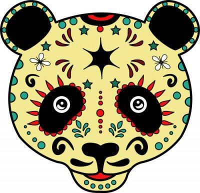 Fototapeta ilustracji wektorowych głowy urządzone Panda