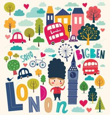 Fototapeta Ilustracji wektorowych London życie