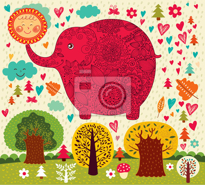 Fototapeta Ilustracji wektorowych z słonia