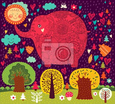 Ilustracji wektorowych z słonia