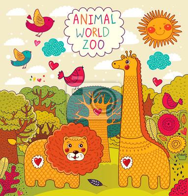 Ilustracji wektorowych ze zwierzętami