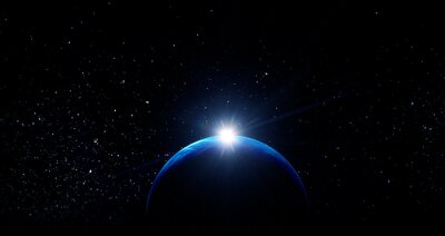 Fototapeta Image of planet in outer space.