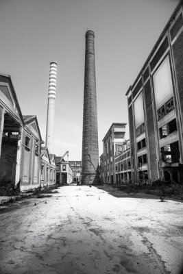 Fototapeta impianto industriale Abbandonato