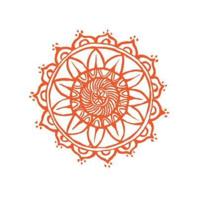Fototapeta Indian ornament koronki. handdrawing