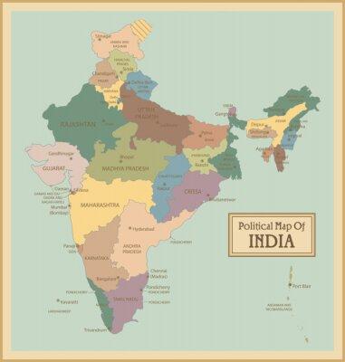 Fototapeta Indie-bardzo szczegółowe map.Layers używane.