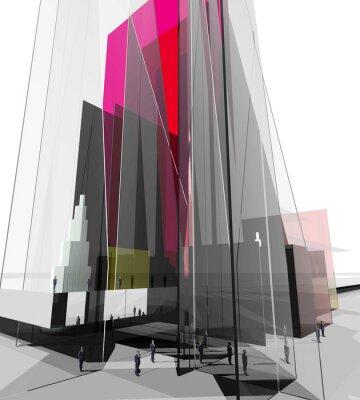 Fototapeta Informacje szkła architektonicznego