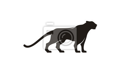 Fototapeta Inspiracja designem logo Jaguar / Puma / Lion