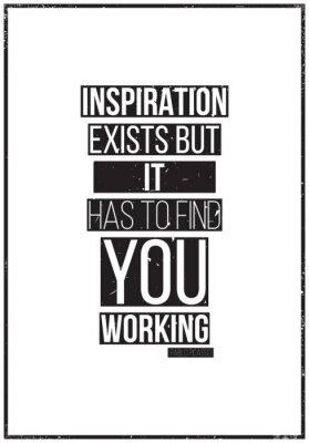 Fototapeta Inspiracja istnieje, ale musi znaleźć Ci pracę. Pablo Picass